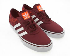 Mens ADIDAS ADI-EASE Print Burgundy Canvas Trainers C76430