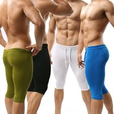 Mens SportsTrunks Boxer Brief Fitness Cropped Yoga rousers Size S M L U01