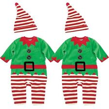 Lovely Baby Toddler Kids' Boys Girls XMAS Clothing Romper Hat Outfits for 0-3Y