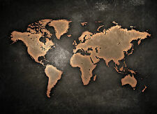 World Map Black Giant Poster - A0 A1 A2 A3 A4 Sizes