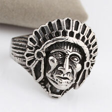 316L Stainless Steel Men Fashion Vintage Sheik Head Cameo Ring Jewelry Size 8-13