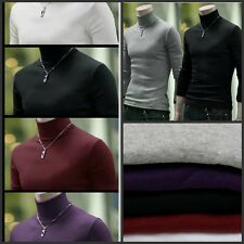 Fashion Men's Turtle Polo Neck Skinny Turtleneck Sweater Shirts Pullover Quality