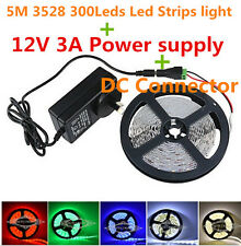 5M 3528 leds+12V 3A DC power supply connectors America au Britain in the Europea