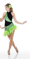 Ballroom Salsa Dance Dress Jazz Tap Costume Tango Halloween GROUPS CS- Adult 2X