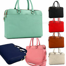 New Women Man Handbag Shoulder Bags Faux Leather Laptop Case Messenger Hobo Bag