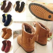 Wholesale price double bow bottoming thick padded winter snow boots 5 Color/Size