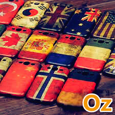 Stone-washed National Flag Cover for HTC One M8, Retro style WeirdLand