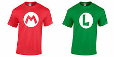 MARIO Or LUIGI T-Shirt Red / Green Gaming Retro Super Brothers Mens Ladies Kids