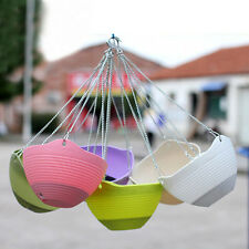 Home Yard Hanging Baskets Garden Hanging Basket Flower Container Planters Pots