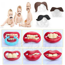 Hot Funny Teeth Mustache Baby Boy Girl Pacifier Orthodontic Dummy Beard Nipples