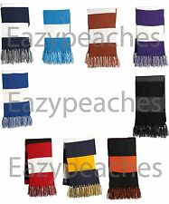 BULK LOT 40 PIECES, MIX/MATCH Sport FRINGED Scarf PRO TEAM SCHOOL COLORS STRIPED