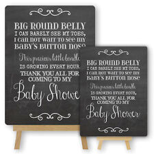 Vintage Chalkboard Style Metal Baby Shower Sign & Easel Decorations Candy Buffet