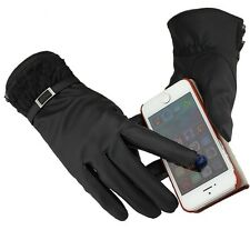 Winter Women PU Leather Gloves Easy Click Touch Screen SmartPhone Magic Gloves