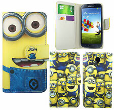 Minion Leather Wallet Book Case Cover For Samsung Galaxy s3 s4 s5 mini & Alpha