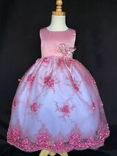Flower Girl Bridesmaids Wedding Easter Embroidery Floral Dress
