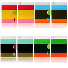 Hot Sale Colored stripes Protective Case For iPad mini