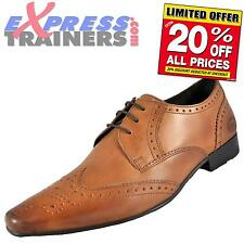 Base London Mens Alexander Leather Formal Brogues Shoes Tan * AUTHENTIC *