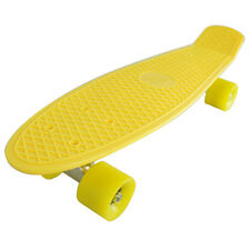 """22.5"""" Penny Style Skateboard Cruiser Board Yellow Deck More Wheels Options Gifts"""