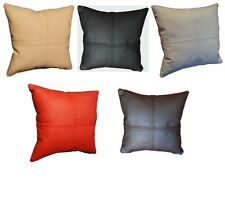 Pillow Cushion Real genuine Leather sofa decorating Cushions doubled stitching