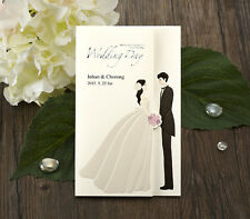 CHO2674,Wedding Party Invitations Cards 100Sets(cards+envelopes+Seals)