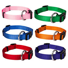 Blueberry Pet Better Basic Classic Solid Adjustable Small Large Nylon Dog Collar