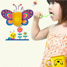 Cute Decorative Wall Sticker Toothbrush Holder Toothpaste Hanger for Kids Baby