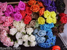 Bunch of 6 Colourfast Foam Rose's Artifical flowers available in lots of colours