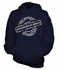 MADE IN DINNINGTON ST JOHN'S UNISEX KIDS HOODIE BOYS GIRLS CHILDRENS FUNNY NEW