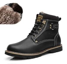 Mens winter Ankle Boots Warm Fur lined snow hiking casual Work Military Shoes #