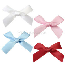 100 Pcs Satin Ribbon Bow Bowknot For Wedding Party Clothes Craft DIY Decoration