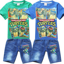 Teenage Mutant Ninja Turtles Clothes Kids Boys Outfits Sets T shirt Jeans Shorts