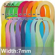 JUYA 7mm Width Single Color Paper Quilling,420mm Length,100 strips, 17 Colors