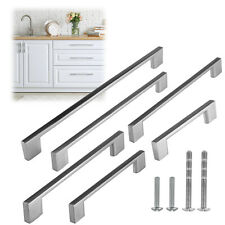 "4 3/4"" to 14"" Inch Rectangular Brushed Nickel Kitchen Cabinet Pull Handles Moder"
