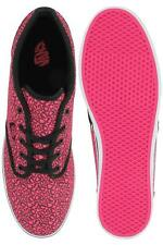 Vans Atwood ladies neon pink cheetah lace up canvas rubber trainer size 3-7