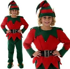 Christmas Fancy Dress Childrens Kids Elf Costume Santa Elf S M L 1st ClassPost H