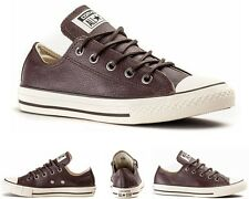 Boys Girls Converse CT OX Burnt Umber Leather 645189C Trainers UK 1 - 5