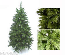 6FT / 180CM GREEN ARTIFICIAL CHRISTMAS XMAS TREE HINGED BRANCHES + FAIRY LIGHTS