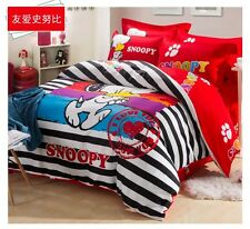 *** I Love You Snoopy Queen Bed Quilt Cover Set - Flat or Fitted Sheet ***