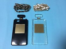 Perfume bottle shaped case for iphone 5/5S with necklace