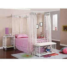 Canopy Wrought Iron Princess Bed frame w headboard & footboard twin girl's NEW