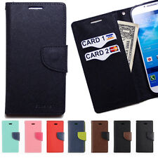 Flip cover credit id card holder combo clutch purse Slim leather walllet case D