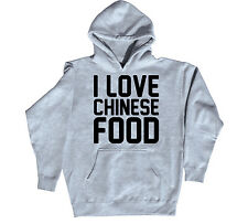 I Love Chinese Food Funny Foodie Takeout Novelty Humor Party Cool Mens Hoodie