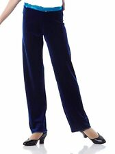 Jazz Pant ONLY Navy Velvet Turquoise Dance Costume Mix N Match MIDNIGHT