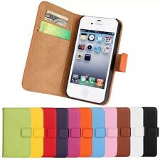 Wallet Genuine Real Leather Case Flip Stand Card Slot Magnetic Cover For iPhone