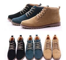 New fashion British Mens Casual Lace Suede Ankle Boots Loafers Shoes Sneakers
