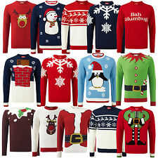 Mens Christmas Jumper Novelty Knitted Xmas Jumpers Sweater Top New