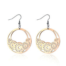 Hers Womens Fashion High Polished Round Flower Earrings Lady's Party Jewellery