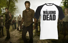 The Walking Dead Horror Zombie Tv Show Comic Rick Daryl Baseball T-Shirt New