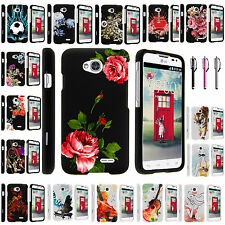 LG Ultimate 2 L41C Sleek Snap on Slim Fitted Hard Image Rubber Case Cover
