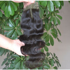 6A Brazilian Virgin Top Lace Closure Body Wave Human Hair Middle Part 3.5x4''